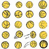 Set Ball sports icons