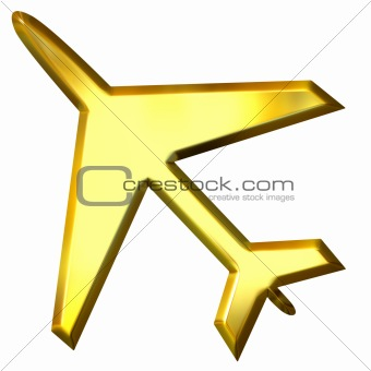 3D Golden Airplane