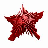 isolated symbolic red star