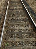 Railway railroad tracks