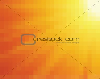 Abstract yellow and orange mosaic