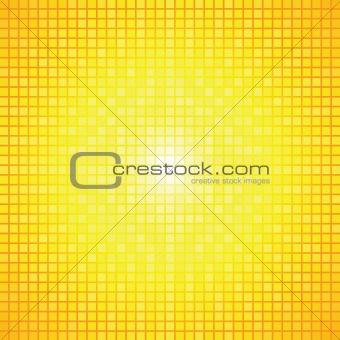 Abstract yellow  light burst mosaic