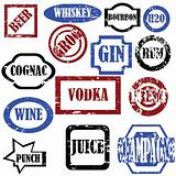Alcoholic stamps