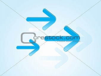 abstract blue arrows