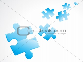 abstract blue shiny puzzles