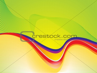 abstract color ful wave with green concept