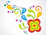 abstract colorful florals