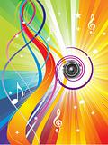 abstract colorful music wave bacground