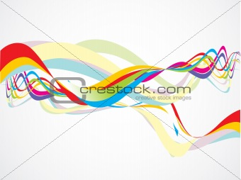 abstract colorful rainbow wave vector illustration