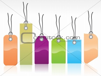 abstract colorful glossy tags
