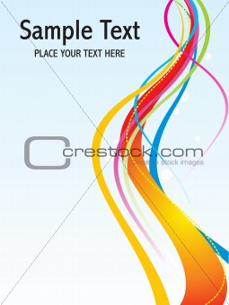 abstract colorful rainbow waves template