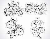 abstract floral design set