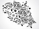 abstract musical floral objects