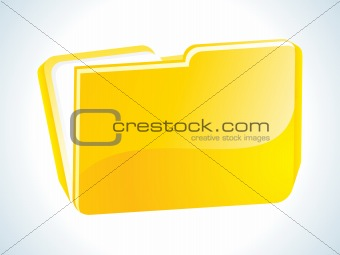 abstract glossy web yellow folder icon
