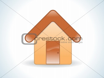 abstract glossy web home icon
