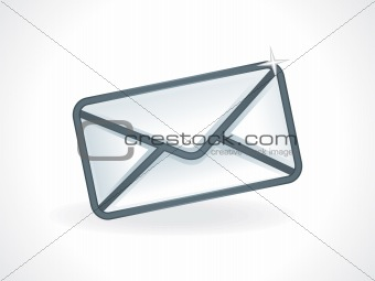 abstract glossy mail icon