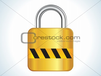 abstract shiny golden lock icon