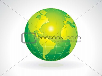 abstract green eco globe