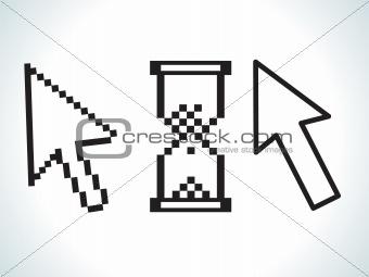 abstract cursor icon