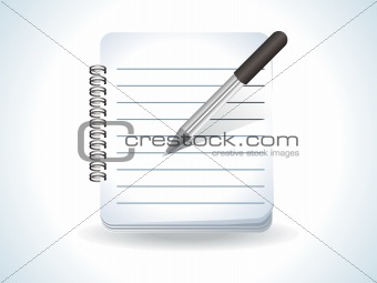 abstract glossy notepad icon
