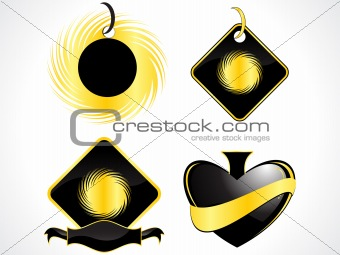 abstract shapes in black color