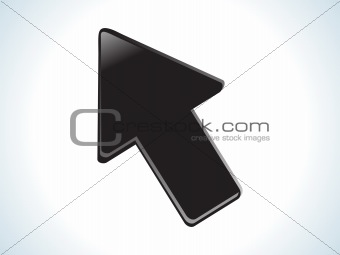 abstract black glossy web cursor icon