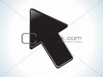 abstract black glossy web cursor icon
