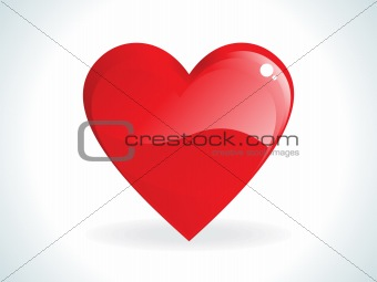 abstract red gossy heart