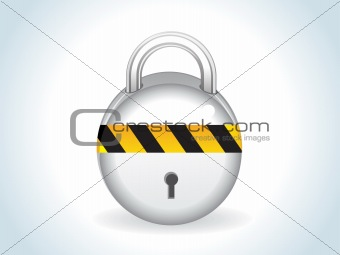 abstract glossy silver lock icon