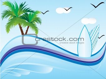 abstract vector summer holiday1