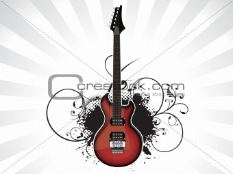 abstract music guitar with grunge