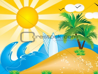 abstract vector summer holiday background