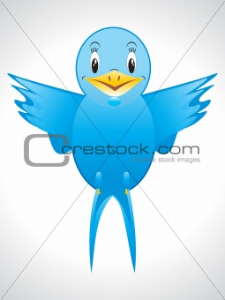 abstract blue bird icon