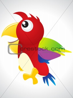 abstract colorful bird icon