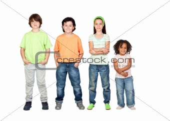Four beautiful and different children