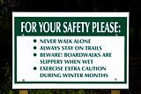 Park Safety Sign