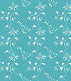 Blue seamless damask background