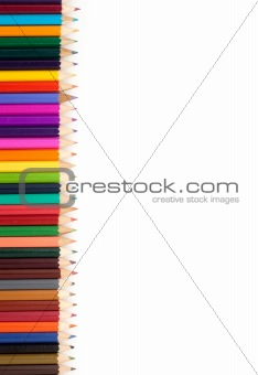 Assortment of coloured pencils