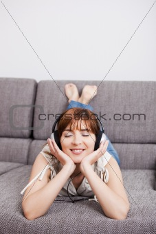 Listening music at home