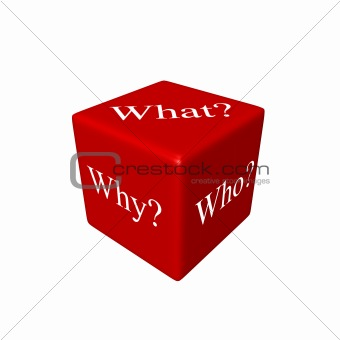 3D dice with questions what? why? who?