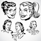Vector Vintage Women