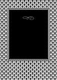 Vector Row Pattern and Black Frame