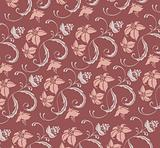 seamelss flower damask pattern