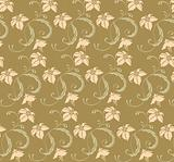 seamless leaves and vines pattern