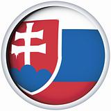 Slovakian flag button