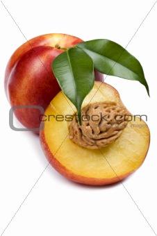 Cutting peach