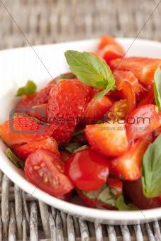 Tomato strawberry salad