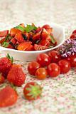 Strawberry tomato salad