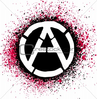 Anarchy symbol icon vector illustration