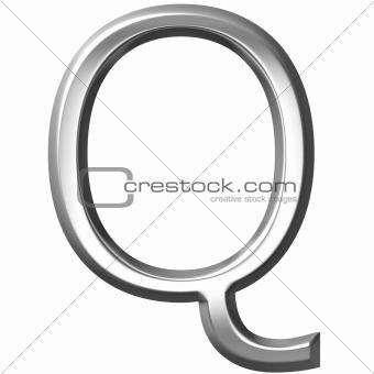 3D Silver Letter Q